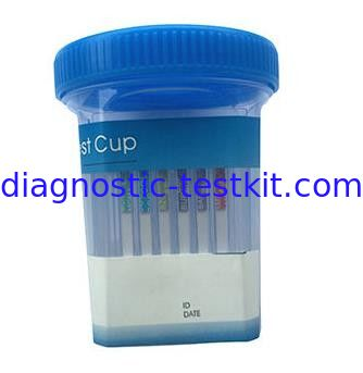High Sensitivity Urine Test Kit 3 Flat Sides Screening Cup For Drug Abuse Testing
